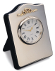 Sterling Silver Mini Arch Top Clock with Gold Bow