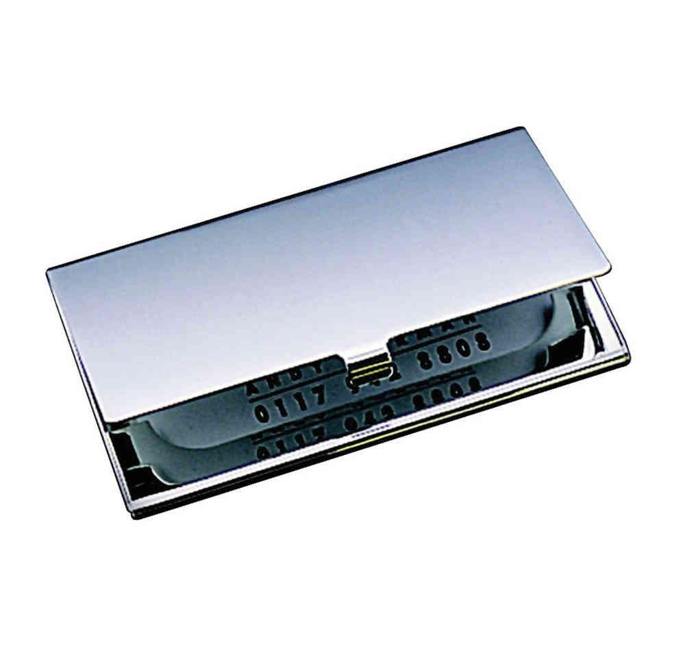Silver Plain Business Card Case - Silver Direct