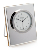 Sterling Silver Wood Backed Clock