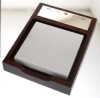 Sterling Silver and Rosewood Notepad Holder
