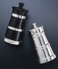 Churn Salt & Peppermills - Ebony & Sterling Silver