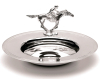 Silver Plated Racehorse Dish