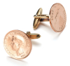 Genuine Gold Plated Farthing Cufflinks
