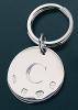 Round Keyring - Sterling Silver