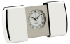 Silver Plated Travel alarm in sliding case