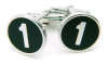 Sterling Silver No.1 Cufflinks