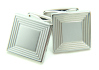 Sterling Silver Square Lines Cufflinks