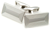 Sterling Silver Rectangular Lines Cufflinks