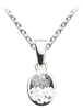 Sterling Silver & CZ Stone Pendant With Chain