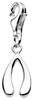 Sterling Silver Wishbone Charm