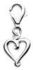 Sterling Silver Curly Heart Charm