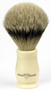 Faux Ivory Badger Shaving Brush