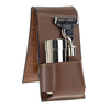 Brown Leather Travel Shaving Kit
