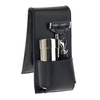 Black Leather Travel Shaving Kit