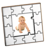 Sterling Silver Wood Back Puzzle Picture Frame