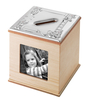 Sterling Silver & Wood Photo Money Box *Sale Item