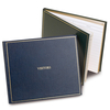 Leather Bound Green Visitors Book