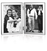 Sterling Silver Hinged Double Aspect Photoframe Wood Back