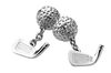 Sterling Silver Golf Club & Ball Cufflinks