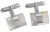 Sterling Silver & Mother of Pearl Cufflinks