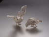 Sterling Silver Quail Pair With Outstretched Wings