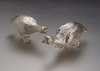 Sterling Silver Grouse Pair 1/2 Size