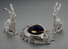 Sterling Silver & Gold Hare Condiment Set