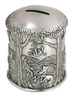 Pewter Winnie The Pooh Coin Box - Tiggers Don't Climb Trees