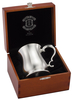 Pewter Crown & Rose Tankard 1/2 Pint Bell In Wood Gift Case