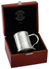 Pewter Crown & Rose Tankard 1 Pint Reynolds In Wood Gift Case