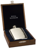 Pewter Hip Flask 4.5oz In Wood Gift Case With Funnel