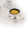 Sterling Silver Mustard Pot and Spoon Set