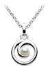 Sterling Silver Pearl Spiral Pendant with Chain