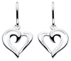 Sterling Silver Heart Strands drop Earings