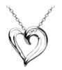 Sterling Silver Heart Strands Pendant with Chain
