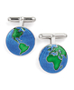 Sterling Silver Earth Cufflinks