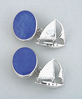 Sterling Silver Sailboat Cufflinks