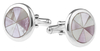 Sterling Silver Mother of Pearl and Abalone Shell Cufflinks