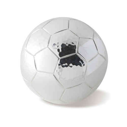 Silver Plated Football Paperweight
